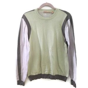 TED BAKER Crewneck Pullover colorblock sweater
